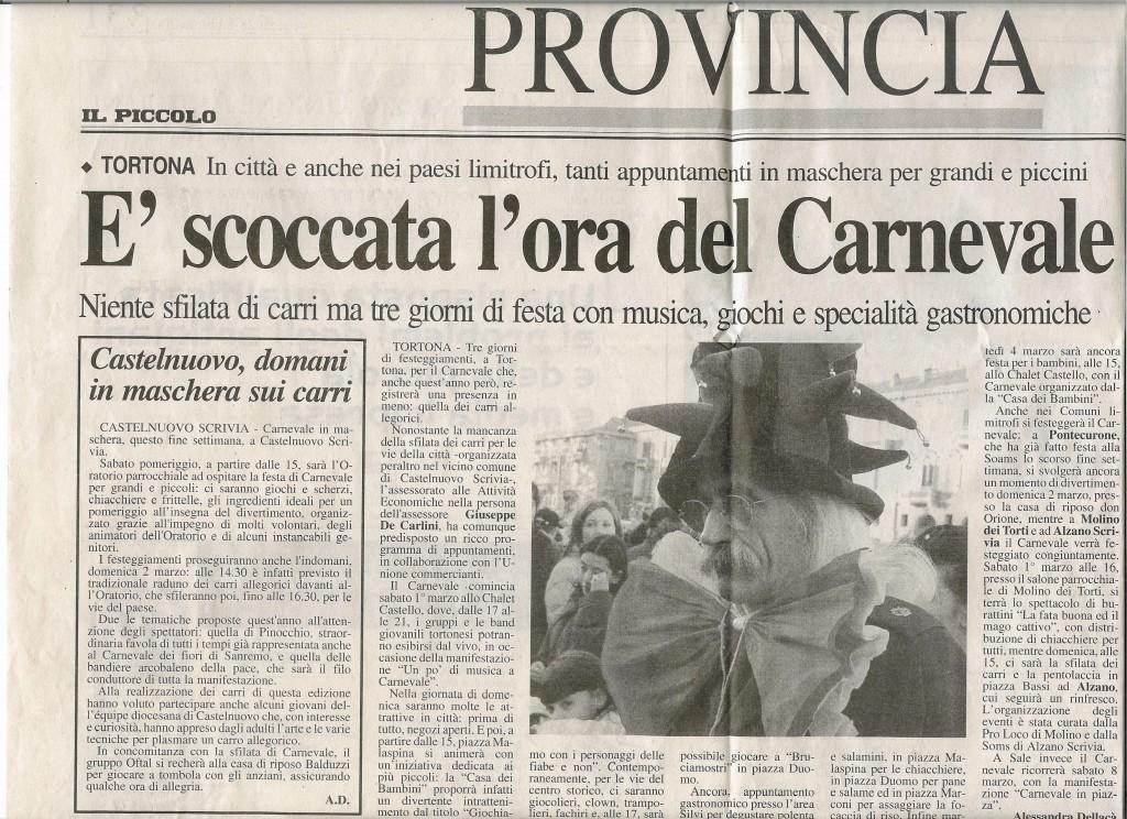"""da """"Il Piccolo"""" 28 febbraio 2003"""