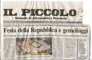 """da """"Il Piccolo"""" 31 maggio 2002"""