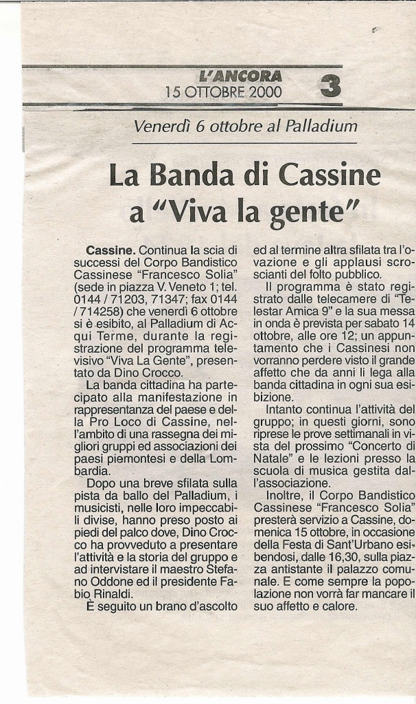 """da """"L'Ancora"""" 6 ottobre 2000"""
