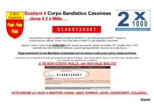 Sostieni il Corpo Bandistico Cassinese